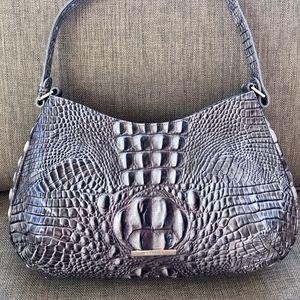 Brahmin gray shoulder bag